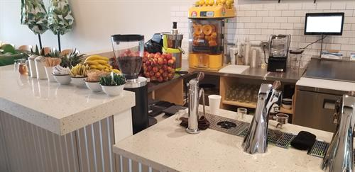 Coffee shop counter in Ebb+Flow