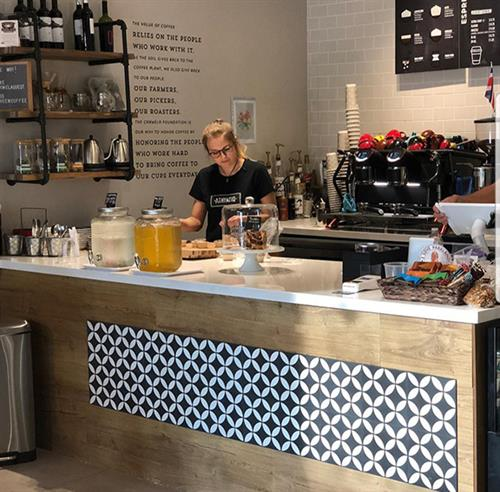Coffee shop counter in Parkland