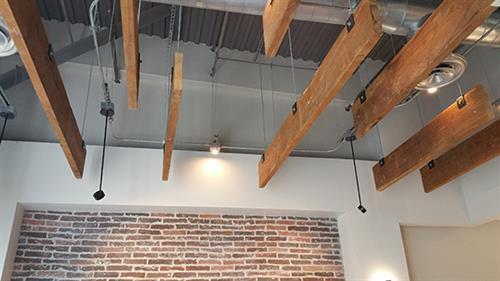 Coffee shop ceiling