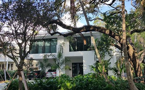 Front of house in Coconut Grove