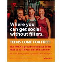YMCA Free Teen Summer Membership