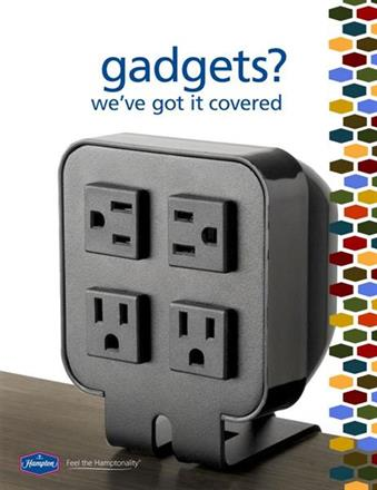 Easy access to outlets in every guest room!