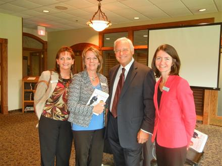 Jane, Sue and Amber with Jack Canfield, Co-Author of the Chicken Soup for the Soul series. Jack was the speaker at our 30th Anniversary event in October of 2016.