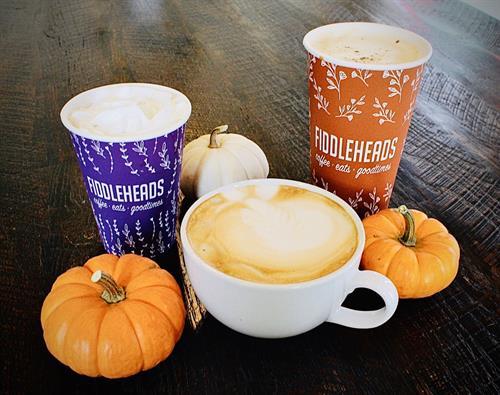 Fiddleheads Coffee Fall Season drinks
