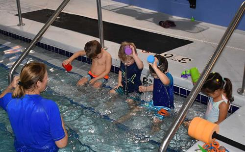 Swim lessons with Instructor Julie
