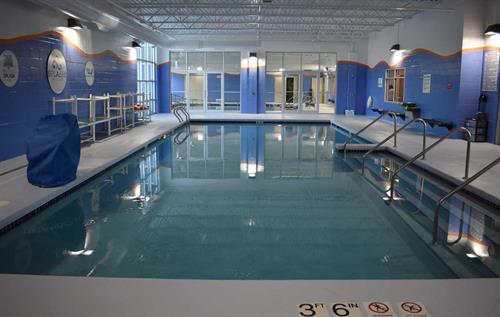 Our two 90 degree indoor teaching pools