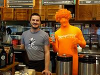 Orange man at Colectivo!