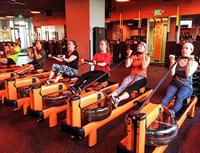 Bicep curls on the rower!