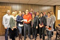 ORA Board presenting check for $1800 to Jeff Schoen for Heart Safe Wisconsin