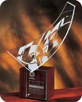 CY53 Mind Door Frank Lloyd Wright Crystal Award