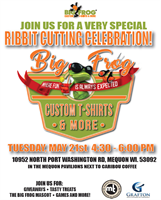Big Frog Custom T-Shirts & More Ribbit Cutting Celebration