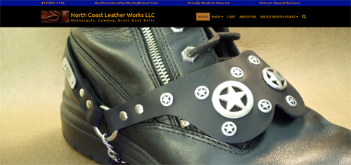 North Coast Leather Works LLC - Motorcycle, Cowboy, Dress Hand Made Boot Belts