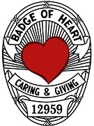 Badge of Heart. Police Officers helping those in need.