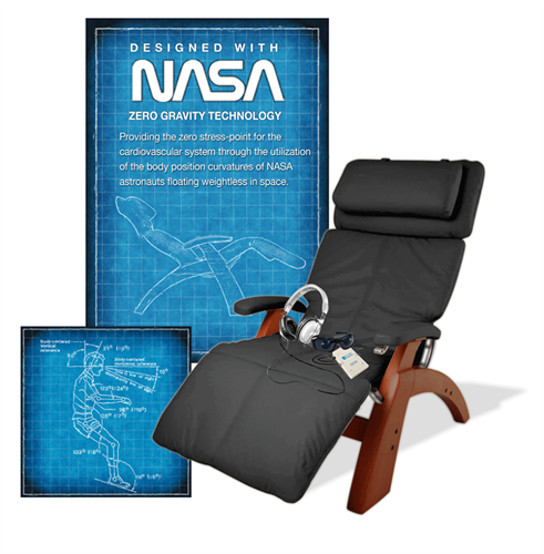 NASA designed zero gravity chair used with headphones & ligt glasses