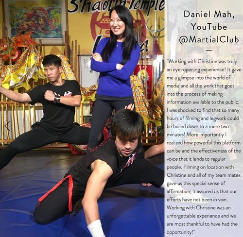 My friend Daniel Mah of Martial Club was kind enough to share these words for my future clients.