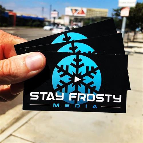We've got business cards!