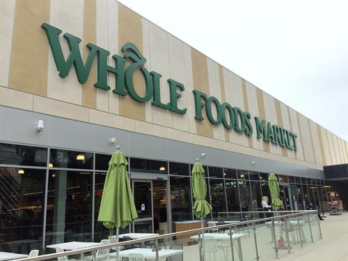 Whole Food Supermarket is walking distance