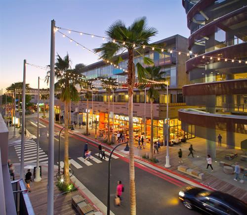 Vibrant shopping area