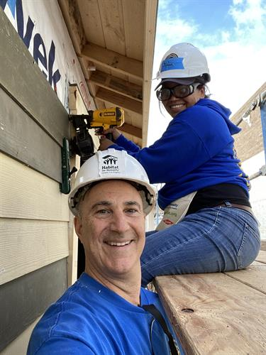 Habitat build with Rotarian President Brady Connell