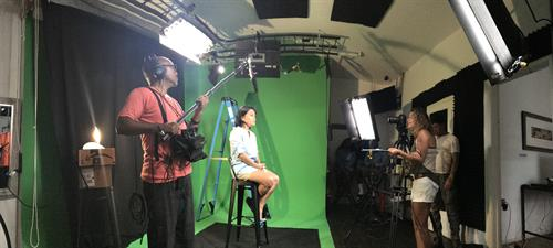 In-house green screen studio