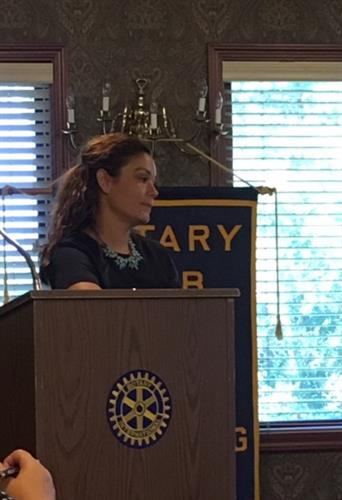 Speaking at Rotary about Suicide and how to prevent it in our community.