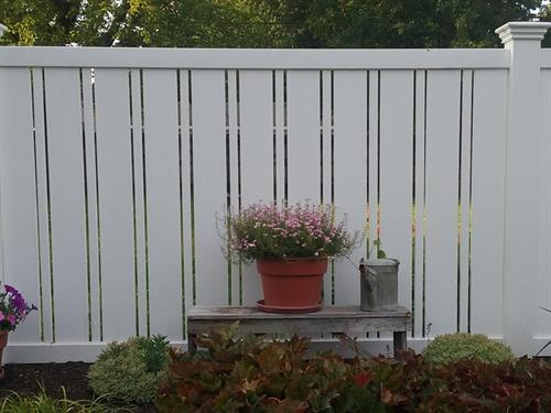 Semi-private fencing for that added privacy.