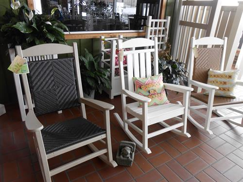Furniture for inside or outside with a fantastic warranty.