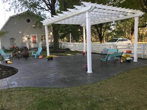 A pergola for that perfect gathering area.