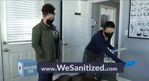 We provide 360 degree protection in your work space. #WeSanitized
