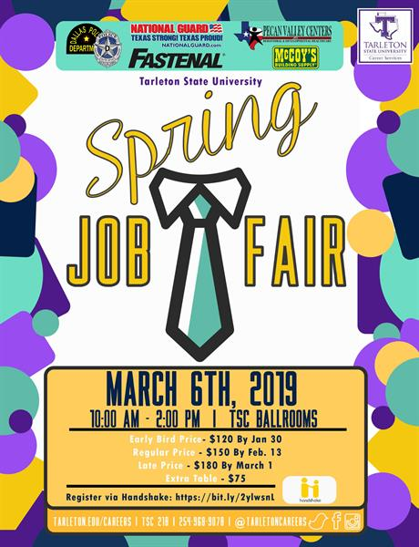 Tarleton State Campus Map.Tarleton State University Spring Job Fair Mar 6 2019