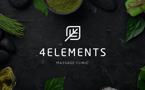 Hybrid Media Lethbridge Branding Web Design and Marketing Agency Client Study 4 Elements Massage Logo Design