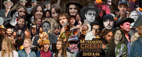 Facebook collage for Moccasin Creek Festival, 2016