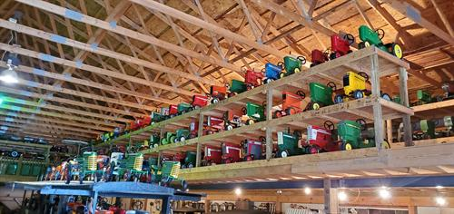 Largest pedal tractor collection