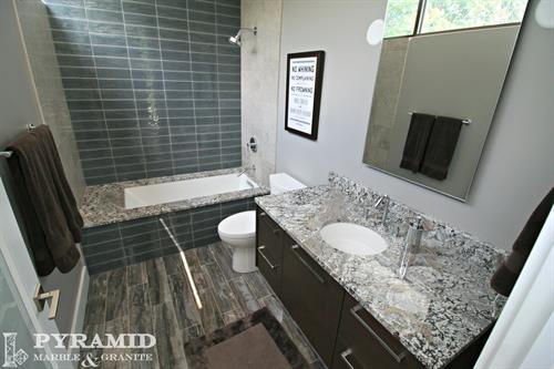 Granite tub and vanity