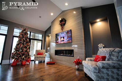 Quartzite fireplace