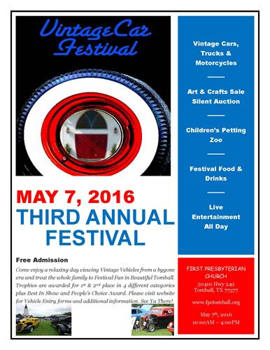 Vintage Car Festival in May