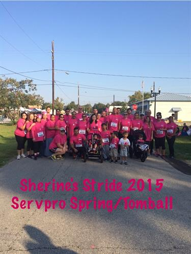 SERVPRO of Spring/Tomball participates in Sherine's Stride with our Tobmall Community