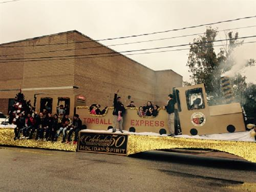Best Commercial Float  at the 50th Golden Tomball Holiday Parade