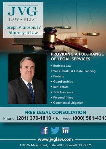 JVG LAW, PLLC, here for all your legal needs.
