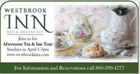 Westbrook Inn Bed & Breakfast Offers High Tea