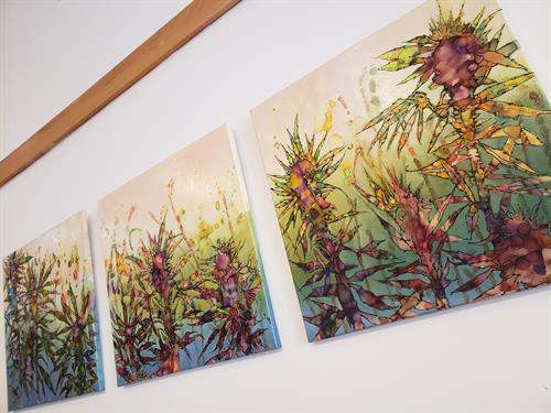 Gorgeous handpainted artwork of the beauty of the hemp plant
