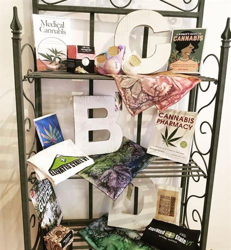 Lovely hand painted silk scarves and good reads!