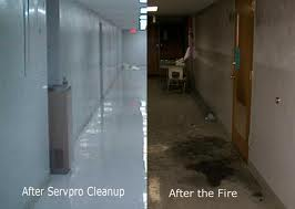 "A before and after of a Fire Clean up... ""Like it never even happened"""