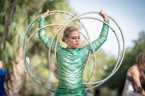 Becca Burton aka Summer Siren of AscenDance and instructor at S-Connection Aerial Arts. Photo by Kyle Ulmer.