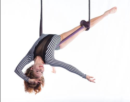 Juliana Richards of AscenDance and instructor @ S-Connection Aerial Arts. Photo by Mindy Miller, 2016.