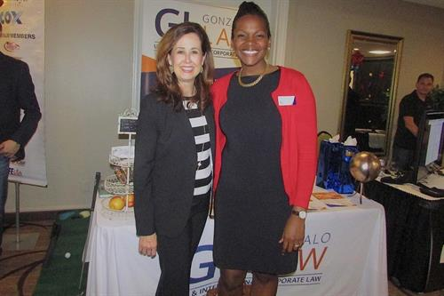 Attorney Gonzalo and Chamber of Commerce President, Susan Davenport