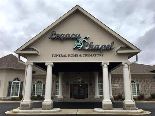 The front of our facility with our sign