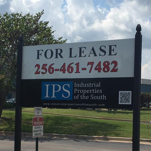 "IPS ""For Lease"" sign in City Limits of Madison"