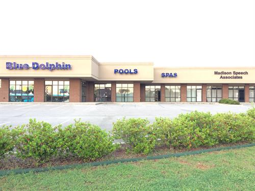 We are located in the Blue Dolphin Pool Building