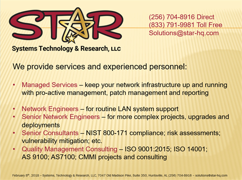 STaR Consulting and Engineering Personnel